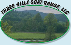The Three Hills Goat Range logo
